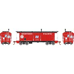 Roundhouse 7463 HO Bay Window Caboose WP/Bicentennial #474
