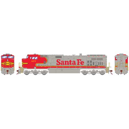 HO Dash 9-44CW, ATSF/Superfleet #677 (RND78038): Athearn Trains