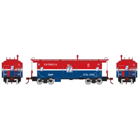 HO Bay Window Caboose, GA #2869 (RND90174): Athearn Trains